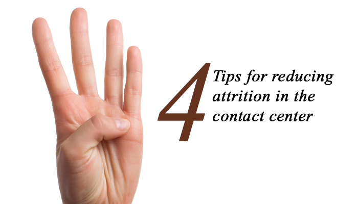 4 Tips for Reducing Attrition in the Contact Center