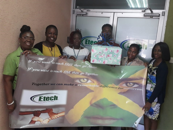 Etech Jamaica Gets Appreciated for Outstanding Give Back Initiative