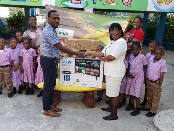 Etech Give Back- Donations at a Learning Institution in Montego Bay