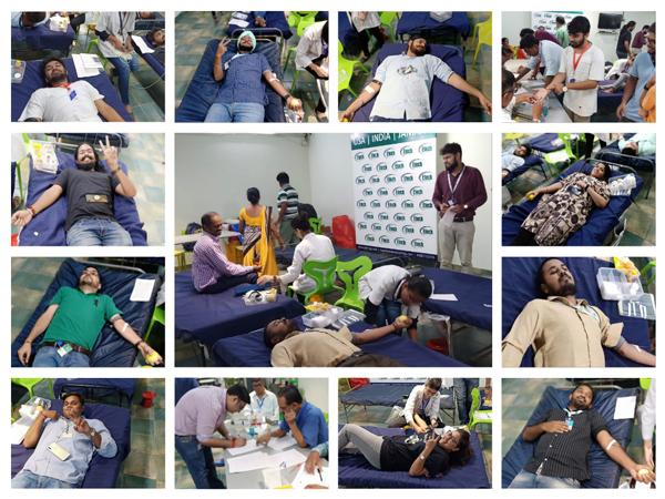 Blood Donation Camp at Etech Vadodara