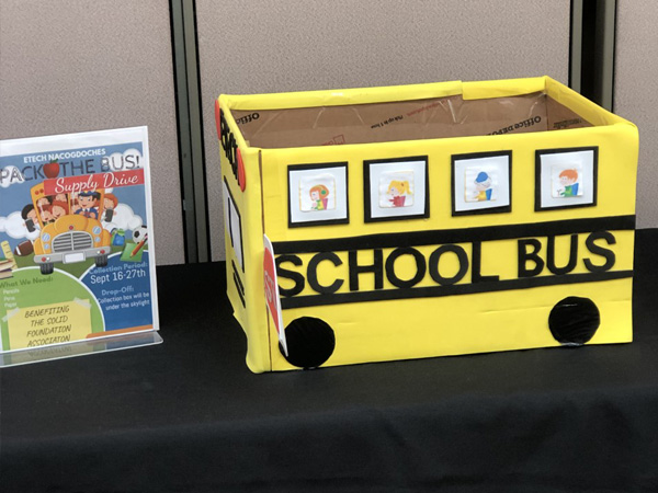 Etech Give Back – Pack the Bus School Supply Drive at Nacogdoches