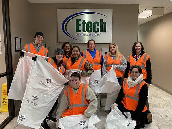Etech Give Back- Adopt A Highway at Nacogdoches
