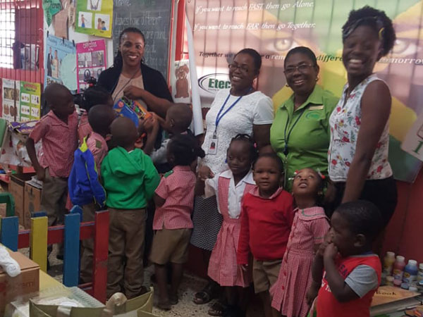 Etech Give Back – Our Montego Bay Team Visited the Geneva's Basic School