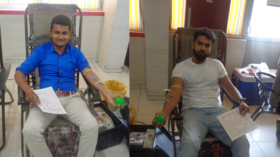 Blood Donation Camp At Gandhinagar Center
