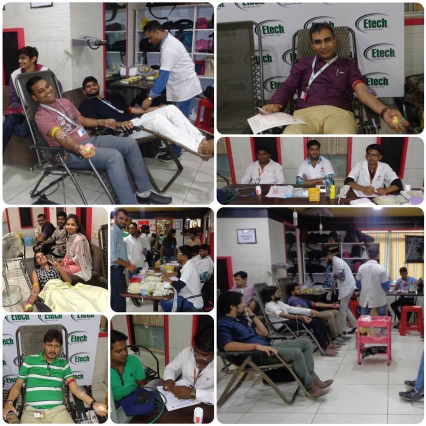 Blood Donation Camp @ Etech Gandhinagar