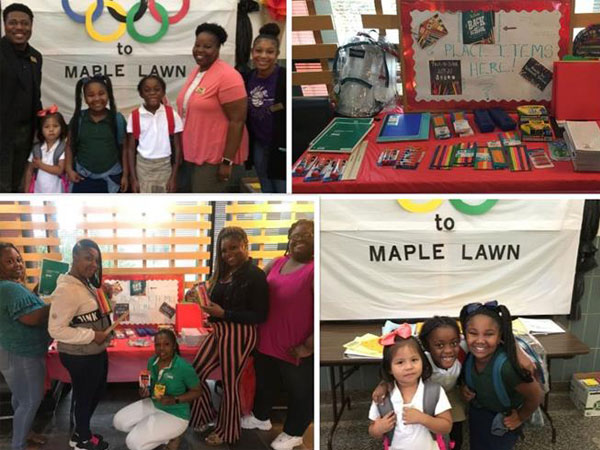 Etech Give Back Program- Donation to the Maple Lawn Elementary School
