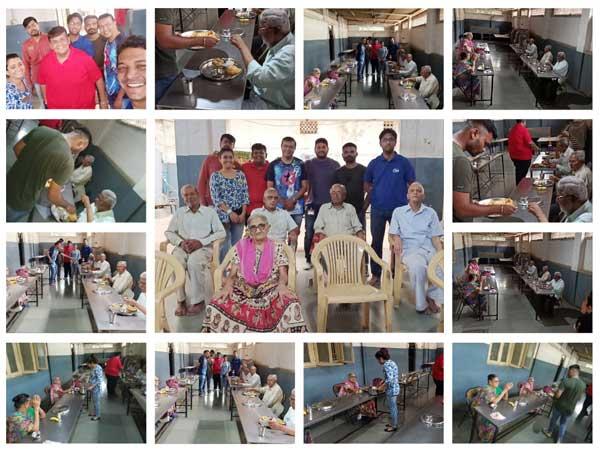 Etech Vadodara Sought Elderly Blessings at the Jalaram Retirement Home