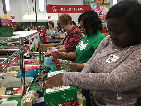 Etech Give Back- Operation Christmas Child at Dallas